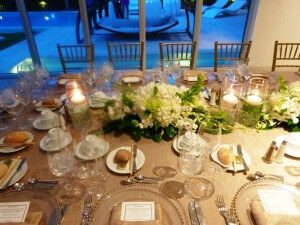 Floral Centerpieces- Gold Dinner Table