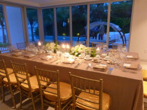 Gold Dinner Table
